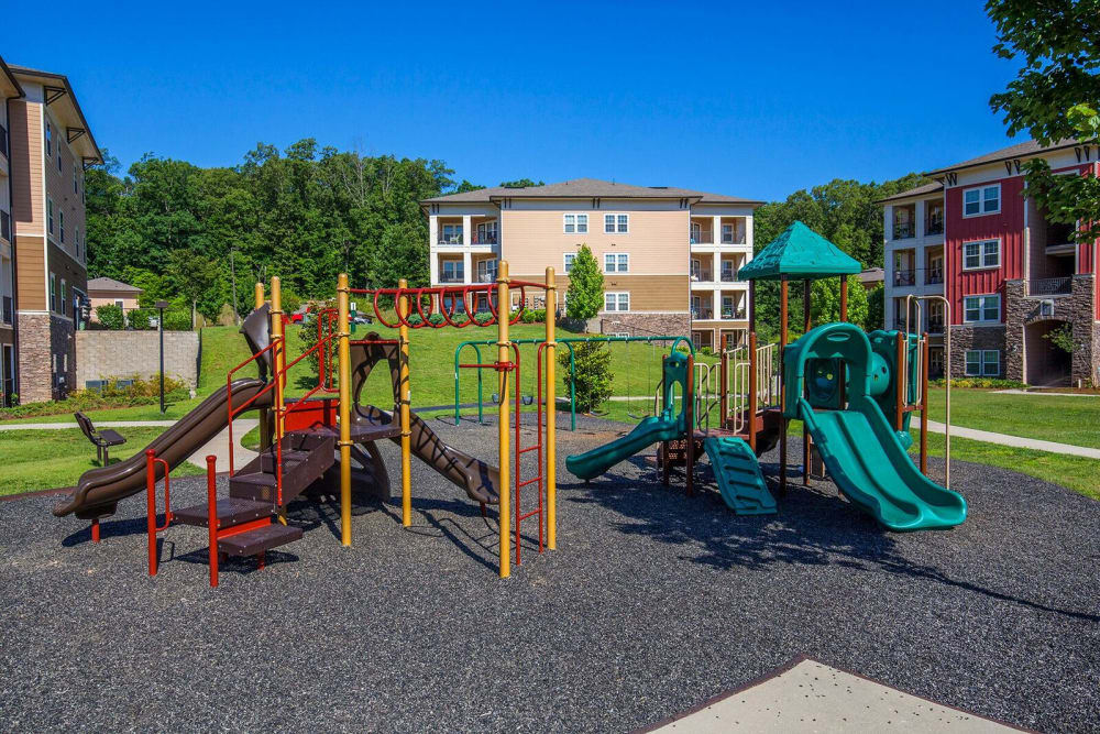 State-of-the-art playground at apartments in Ooltewah, Tennessee