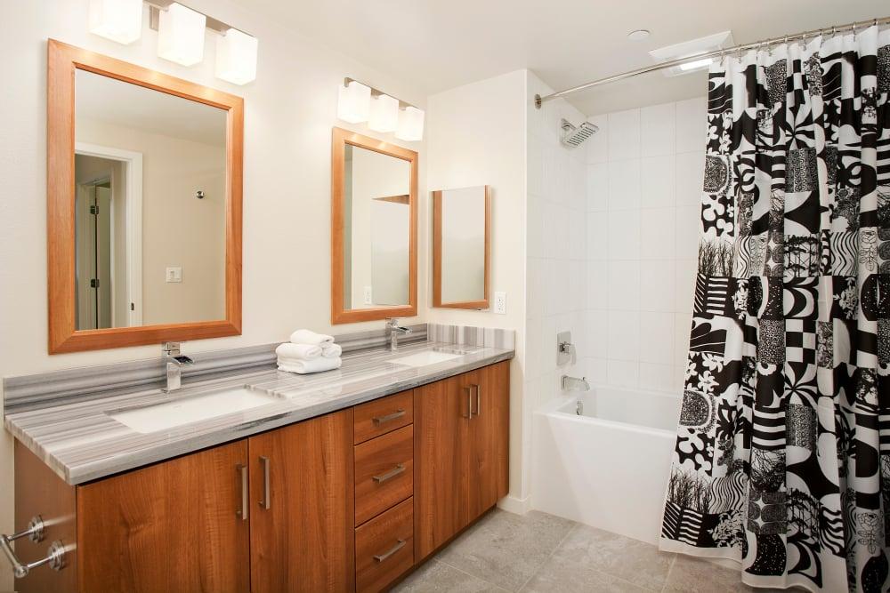 Master bedroom at Brio Apartment Homes in Glendale, California