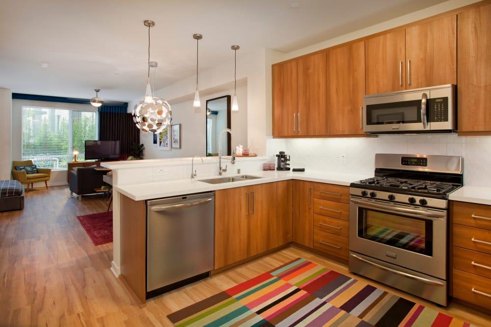 Kitchen at Brio Apartment Homes in Glendale, California
