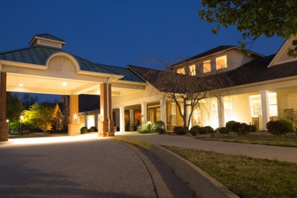 Brookstone Assisted Living Community at night
