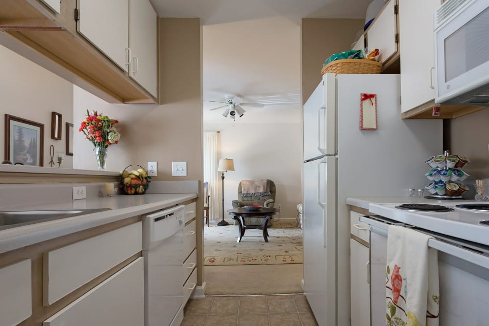 Enjoy a well-equipped kitchen at Crescent Oaks in Graham, North Carolina