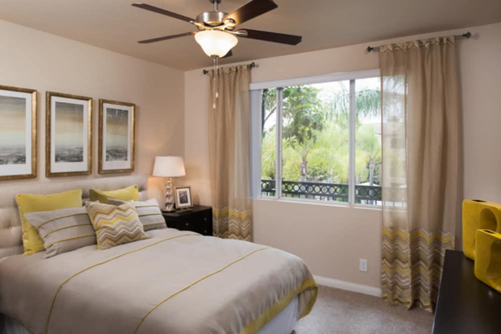Master bedroom at Alize at Aliso Viejo Apartment Homes in Aliso Viejo, California