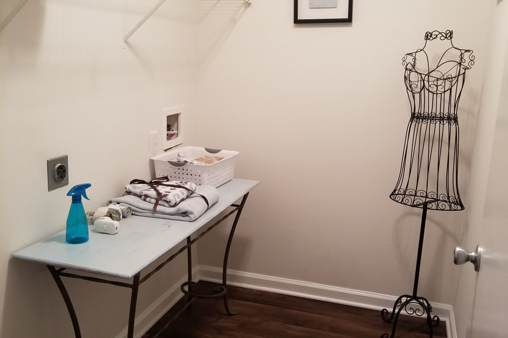 Ironing room at Claypond Commons in Myrtle Beach, South Carolina