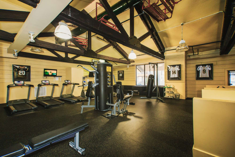 Fitness center at Studio West in Boone, North Carolina