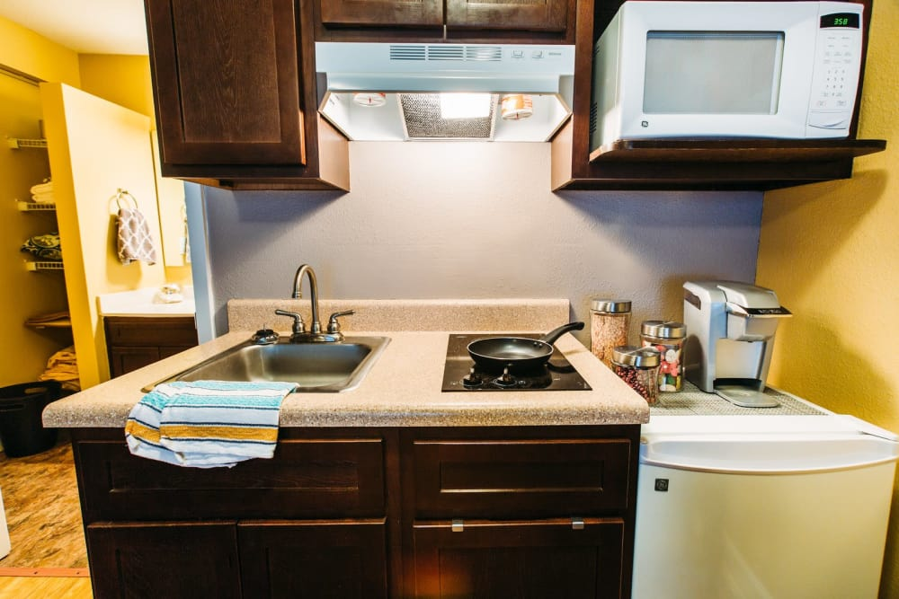 Studio West offers a beautiful kitchenette in Boone, North Carolina