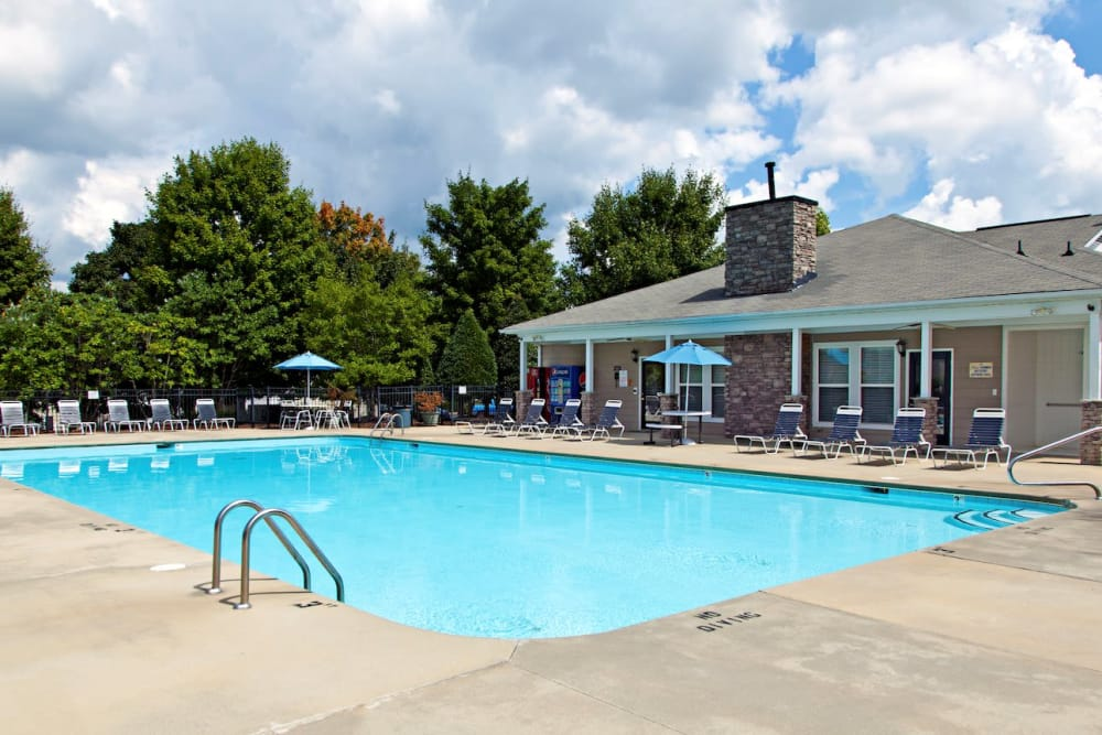 Enjoy a shimmering pool at Fieldstone Apartments in Mebane, North Carolina