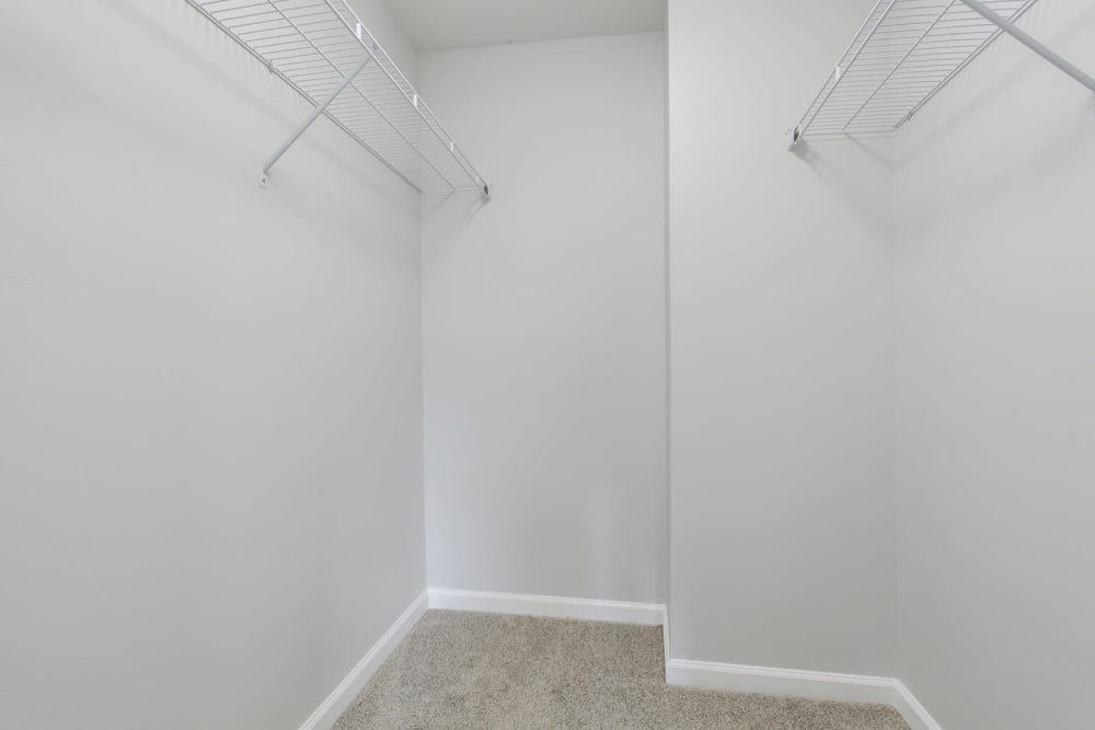 Example closet at apartments in New Orleans