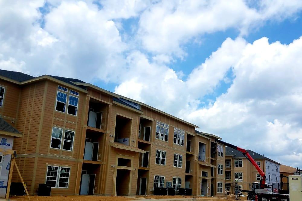 New apartments being built at Waterside Apartments in Graham, North Carolina