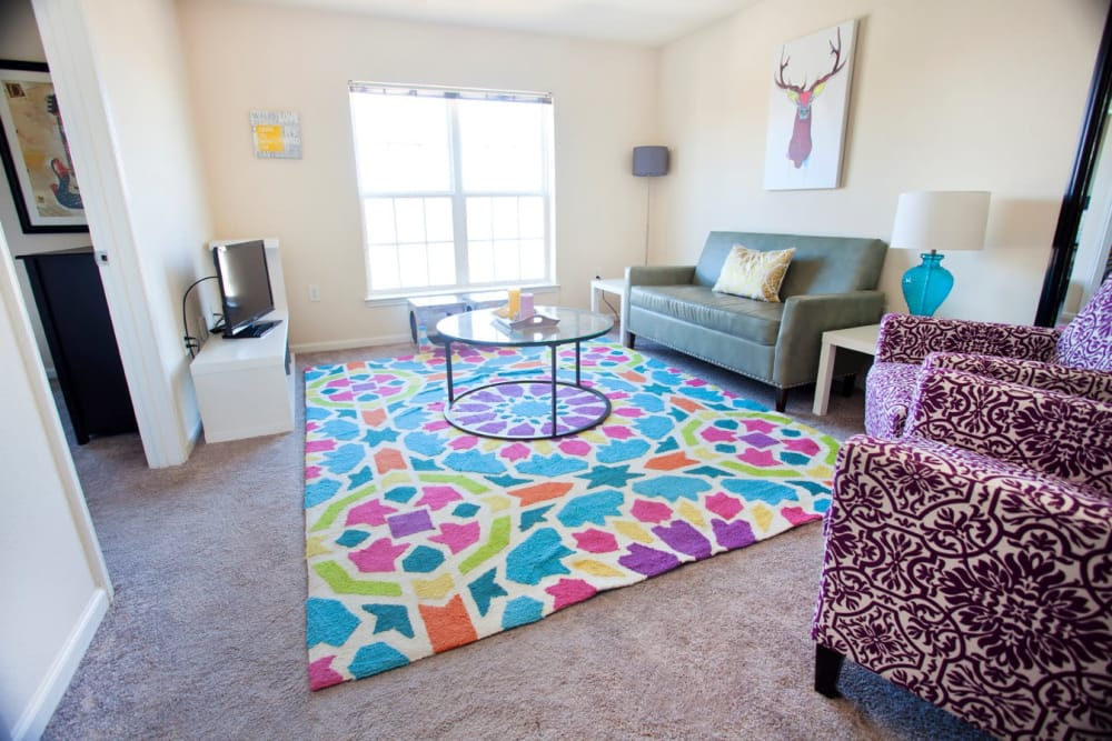The Village of Meadowview offers a spacious living room in Boone, North Carolina