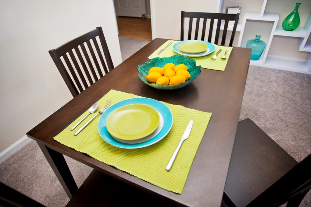 Dining room table at The Village of Meadowview in Boone, North Carolina