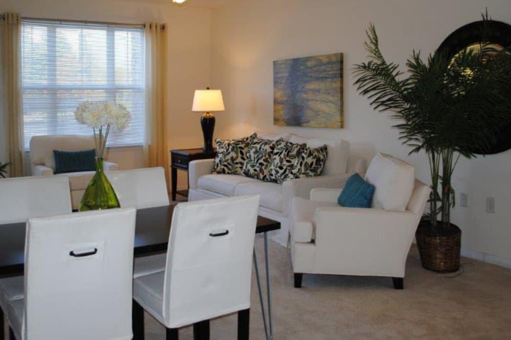 Luxury Living room at Windsor Upon Stonecrest in Burlington, North Carolina