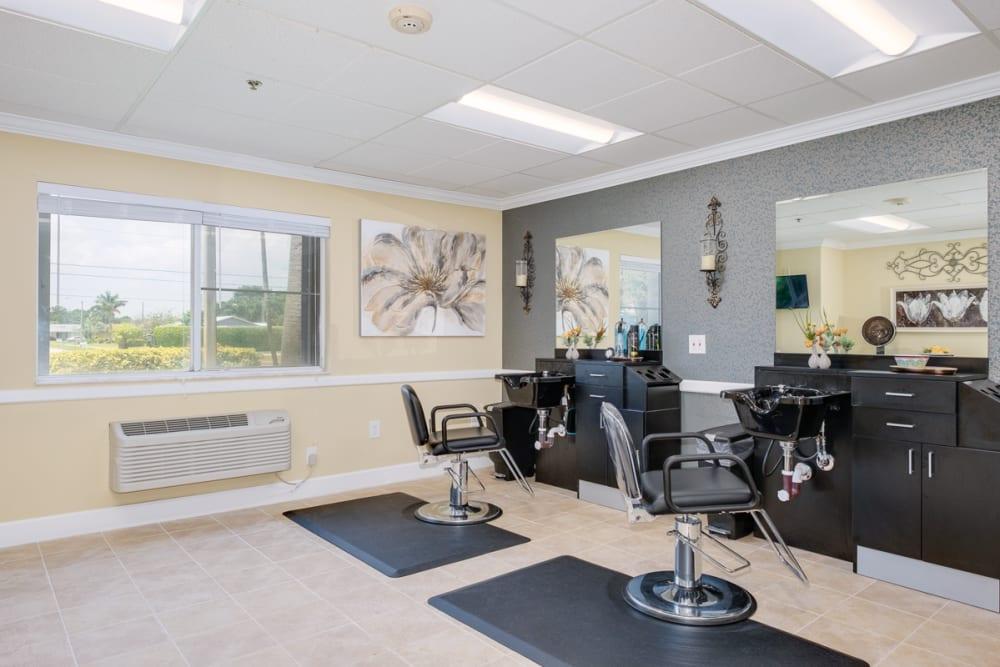 Barbershop at Grand Villa of Deerfield Beach in Florida