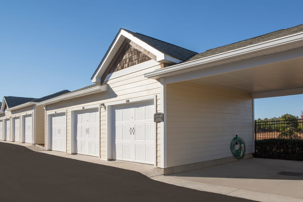 Garages and carport at Apartments at the Venue in Valley, Alabama