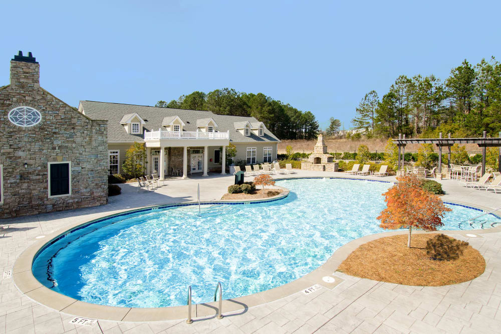 Swimming pool at Apartments at the Venue in Valley, Alabama