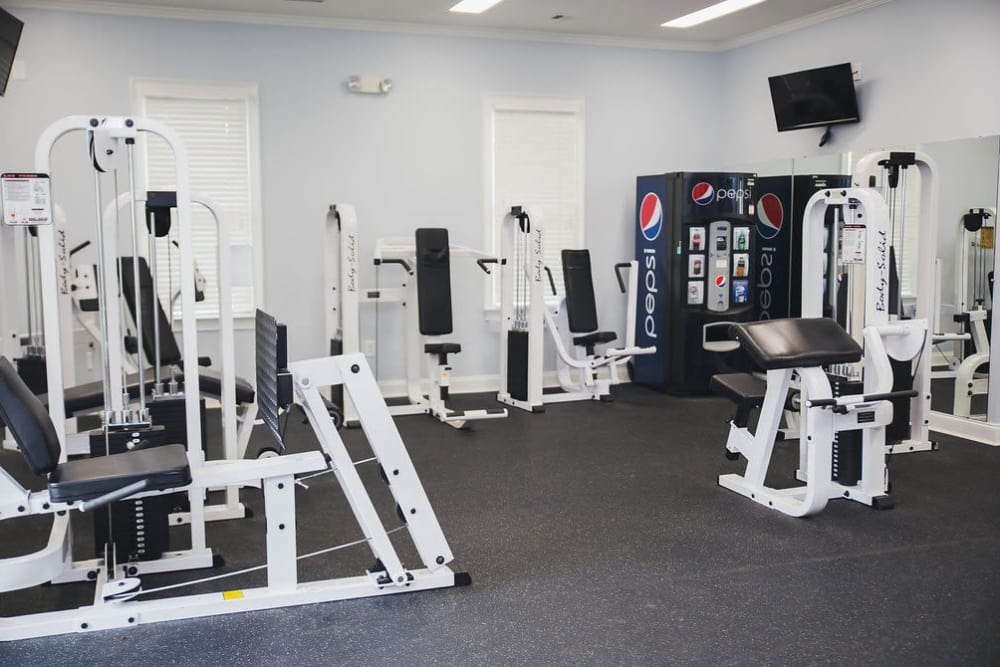 Fitness Center at Brighton Park Apartments in Byron, Georgia