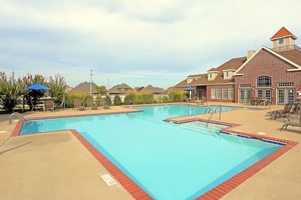 Swimming pool at Harbin Pointe Apartments in Bentonville, Arkansas