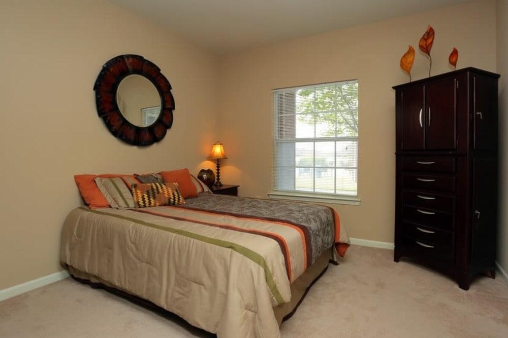 Harbin Pointe Apartments offers modern bedrooms in Bentonville, Arkansas