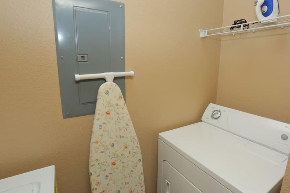 Laundry facility at Harbin Pointe Apartments in Bentonville, Arkansas