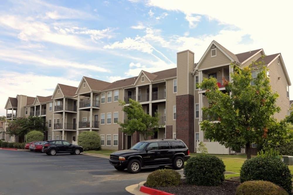 Parking lot at Harbin Pointe Apartments in Bentonville, Arkansas