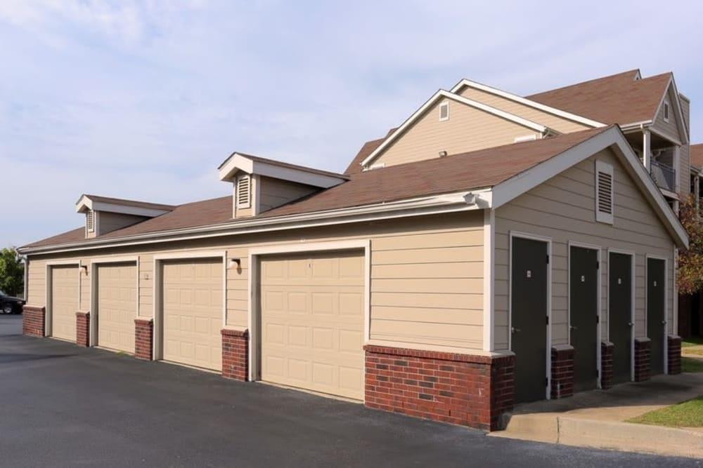 Harbin Pointe Apartments offers parking garages in Bentonville, Arkansas