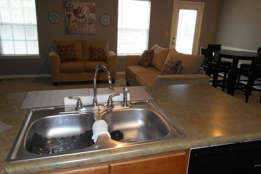 Kitchen at Harbin Pointe Apartments in Bentonville, Arkansas