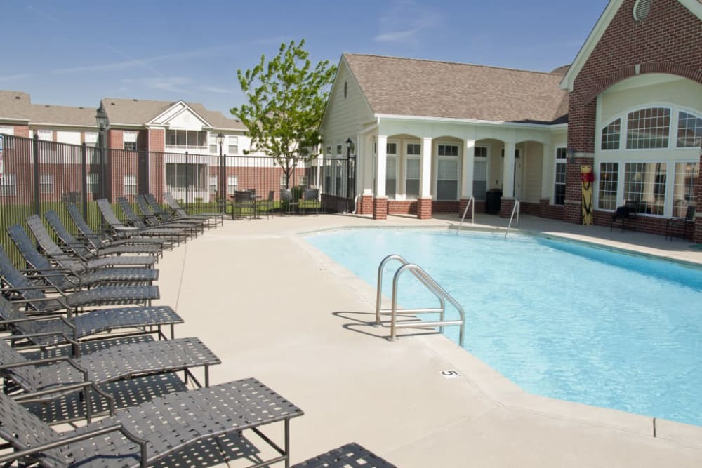 Swimming pool at The Bristol in Camby, Indiana