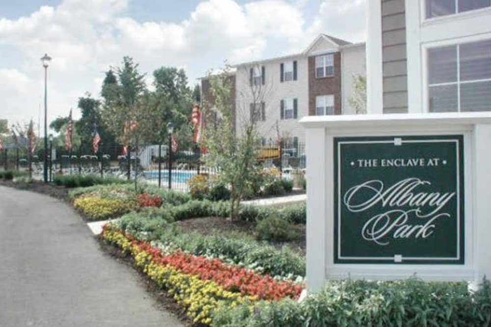 Sign at Enclave at Albany Park in Westerville, Ohio