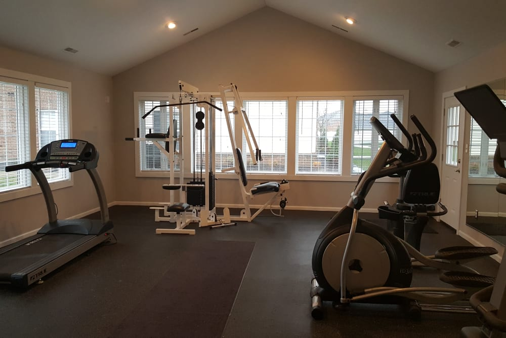 Fitness center at Enclave at Albany Park in Westerville, Ohio