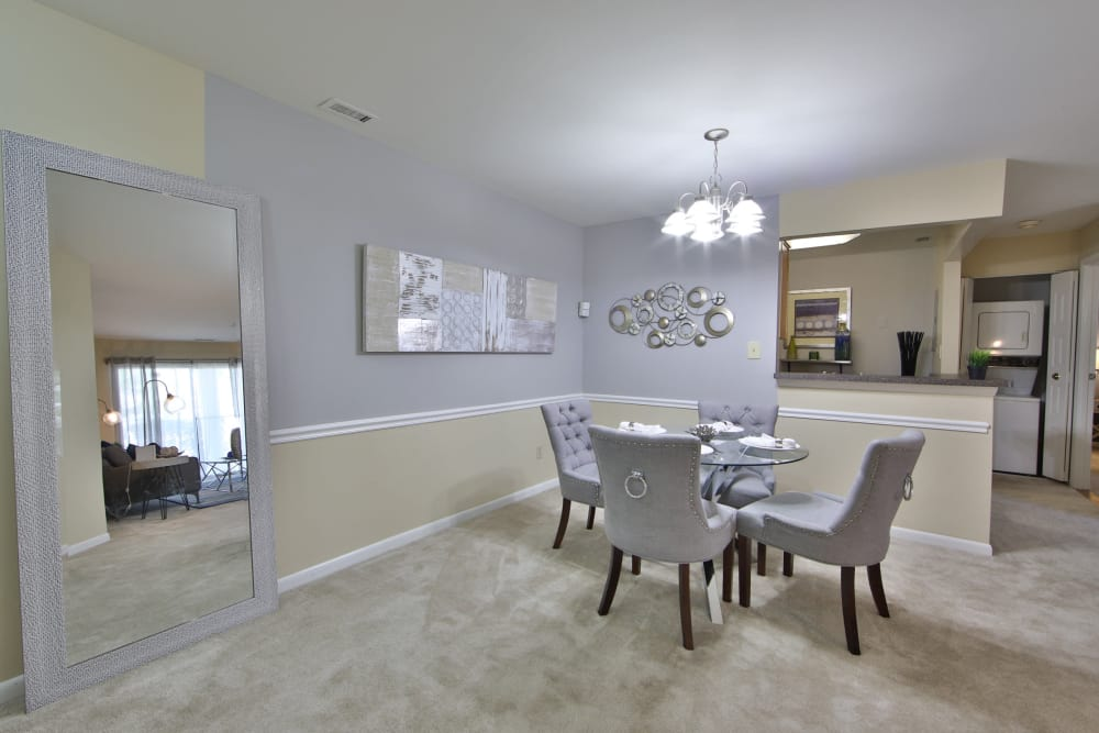 Beautiful Dining Room at Northampton Apartment Homes in Largo, Maryland