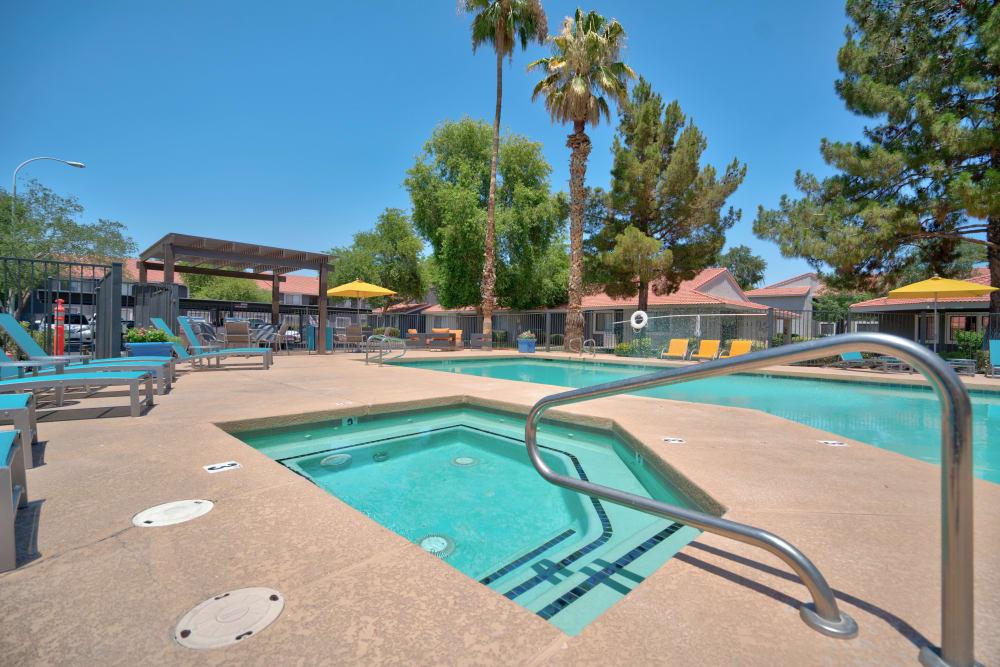 Enjoy a sparkling swiming pool at Argenta Apartment Homes in Mesa, Arizona