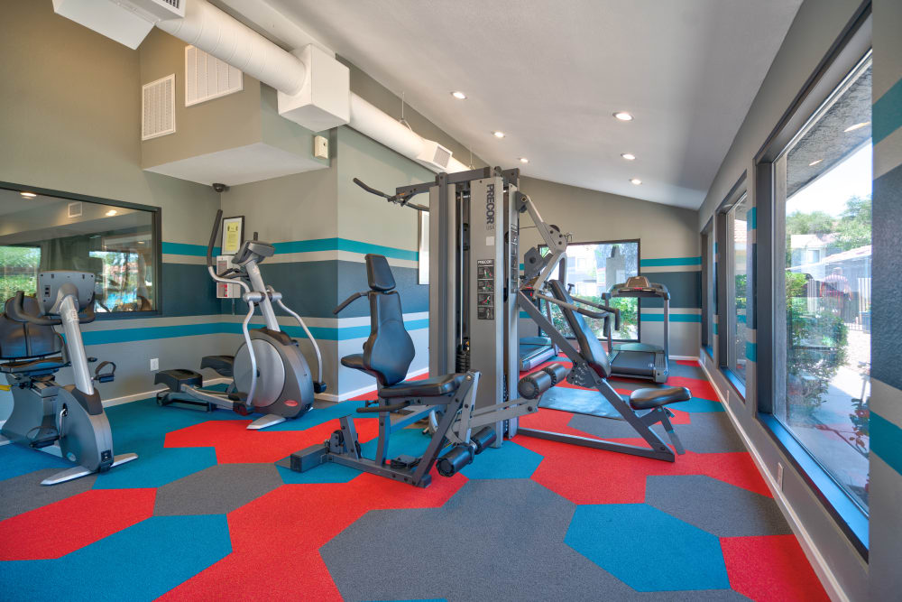 Stay healthy in our fitness center in Argenta Apartment Homes in Mesa, Arizona