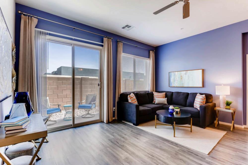 Bright living room at Avilla Meadows in Surprise, Arizona