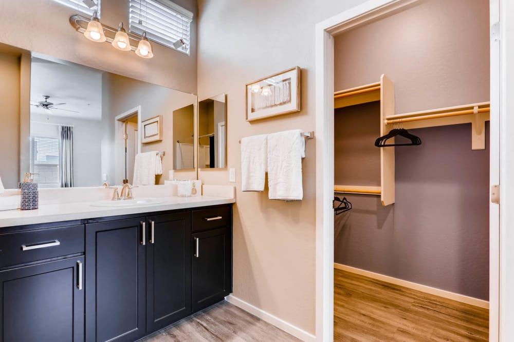 Modern bathroom at Avilla Meadows in Surprise, Arizona