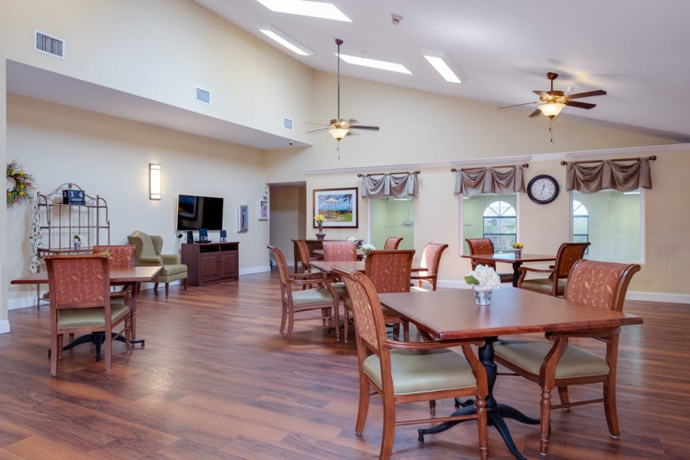 Common seating at Grand Villa of Englewood in Florida