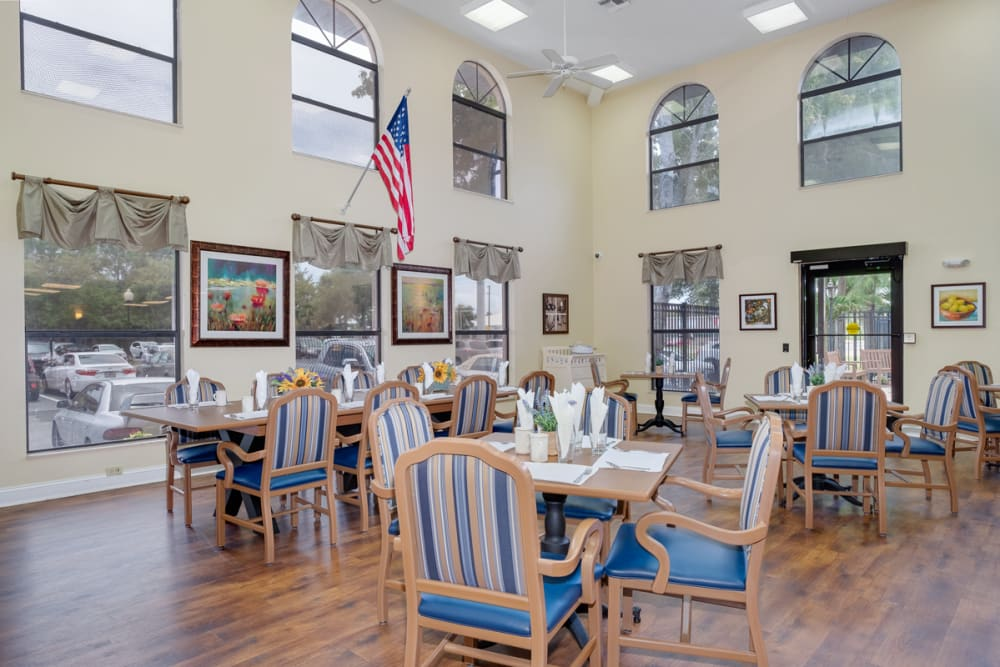 Common area at Grand Villa of Englewood in Florida