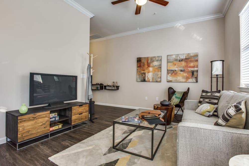 Living room at Avilla Northside in McKinney, Texas