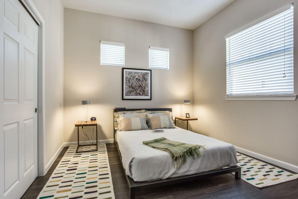 Model bedroom at Avilla Northside in McKinney, Texas