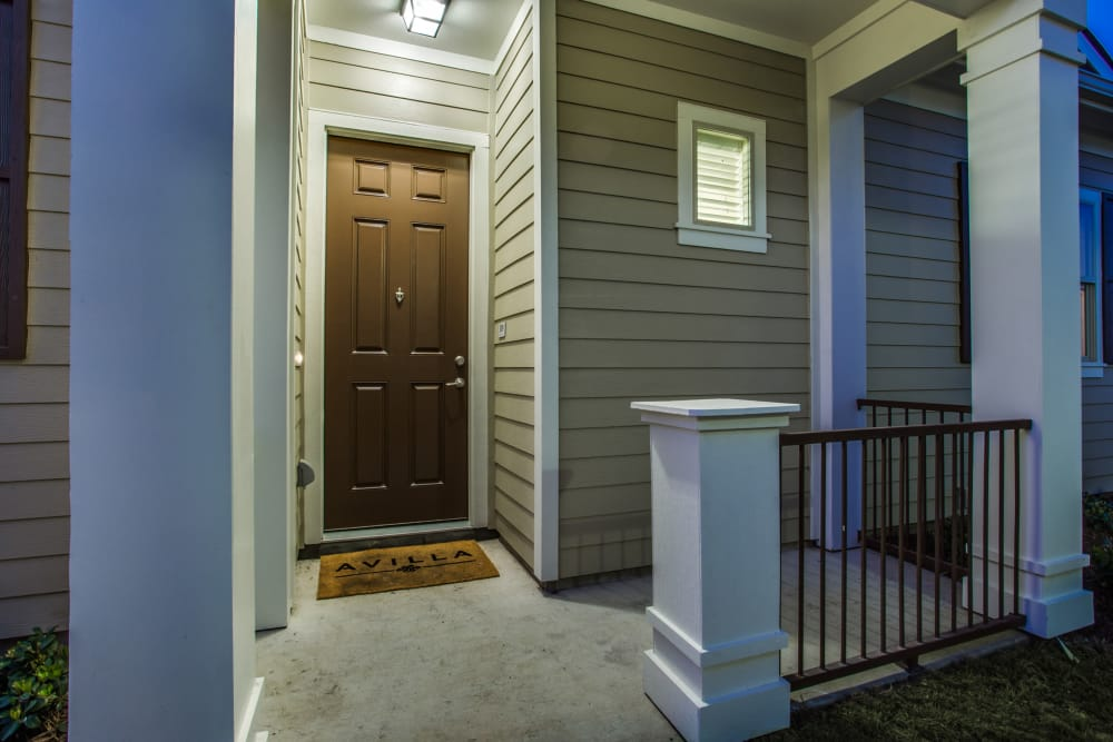 Front door of our apartments at Avilla Premier in Plano, Texas