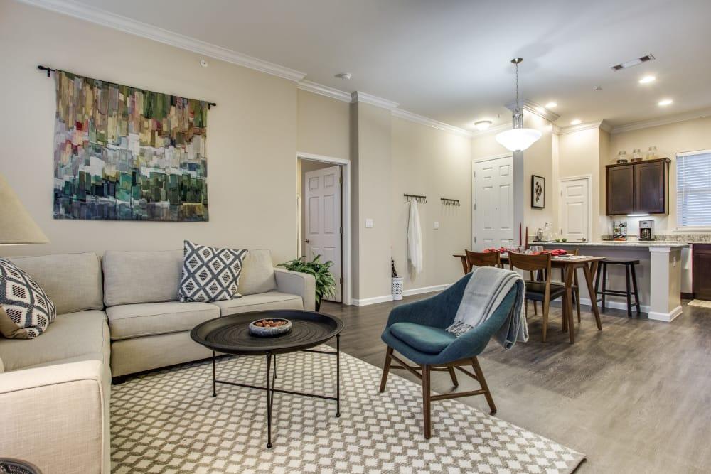 Living room at Avilla Premier in Plano, Texas