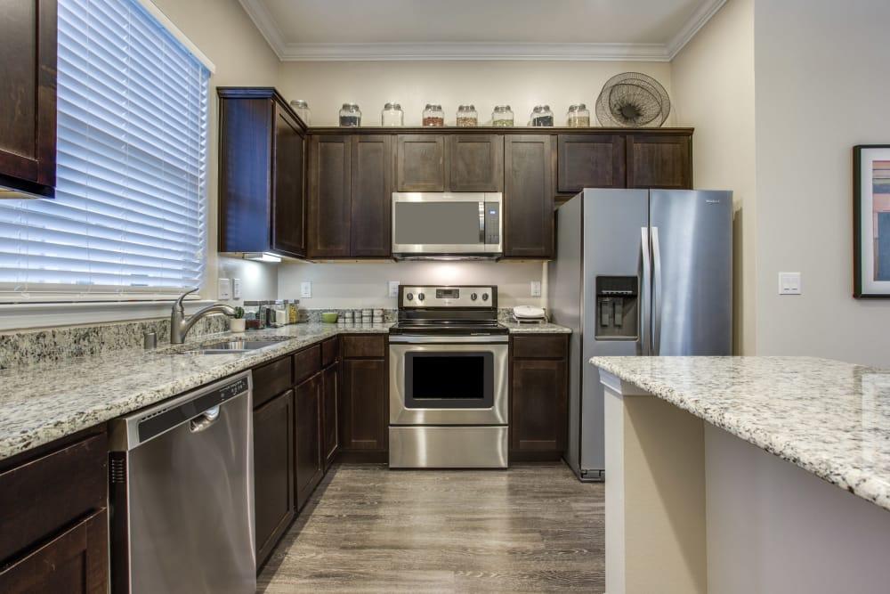 Modern kitchen at Avilla Premier in Plano, Texas