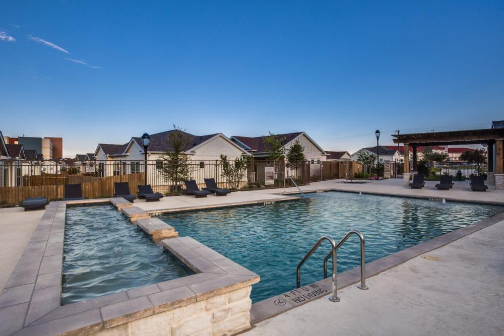 Beautiful swimming pool at Avilla Premier in Plano, Texas