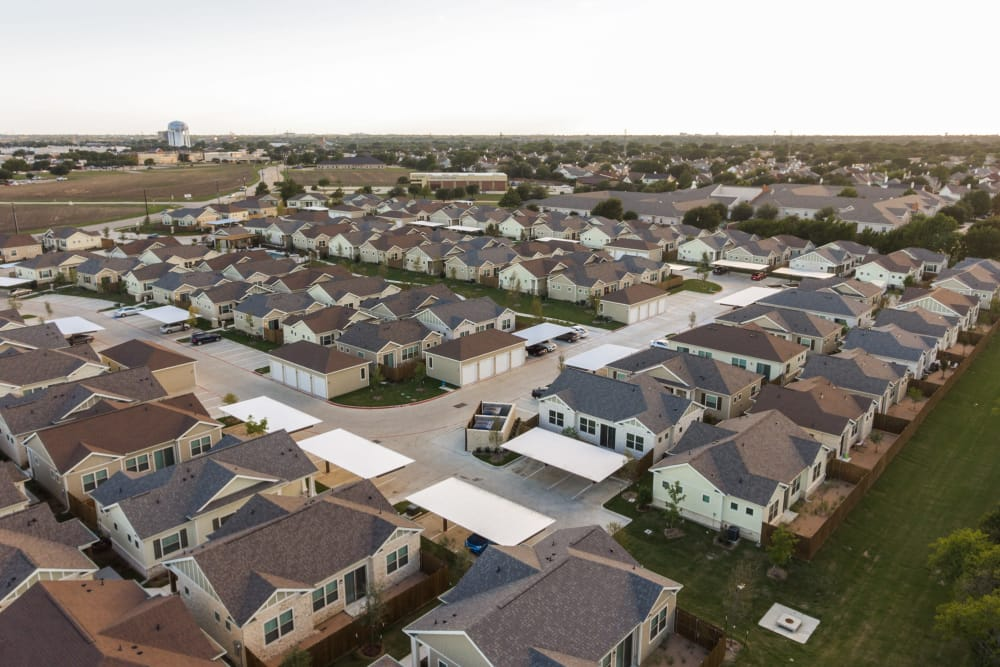 Aerial view of our apartments at Avilla Premier in Plano, Texas