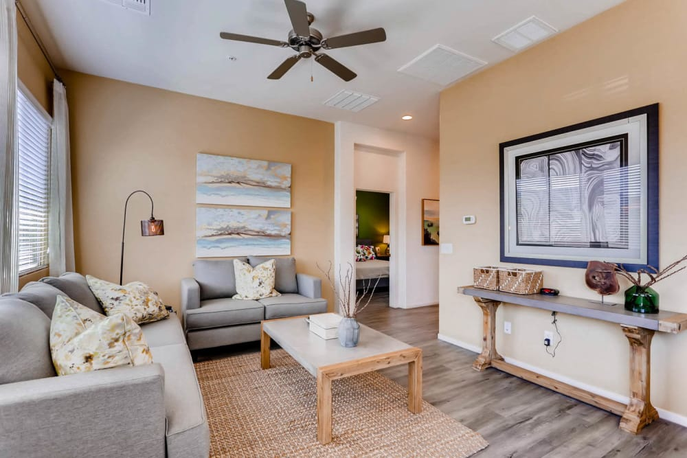 Avilla Buffalo Run offers a modern living room in Commerce City, Colorado