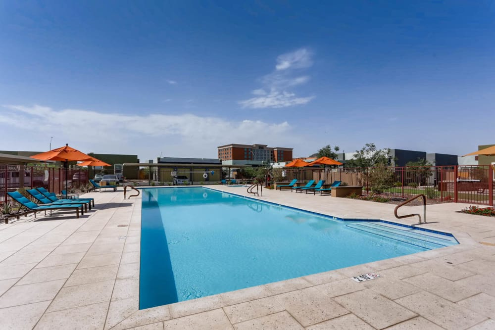 Enjoy a sparkling swimming pool at Avilla Deer Valley in Phoenix, Arizona