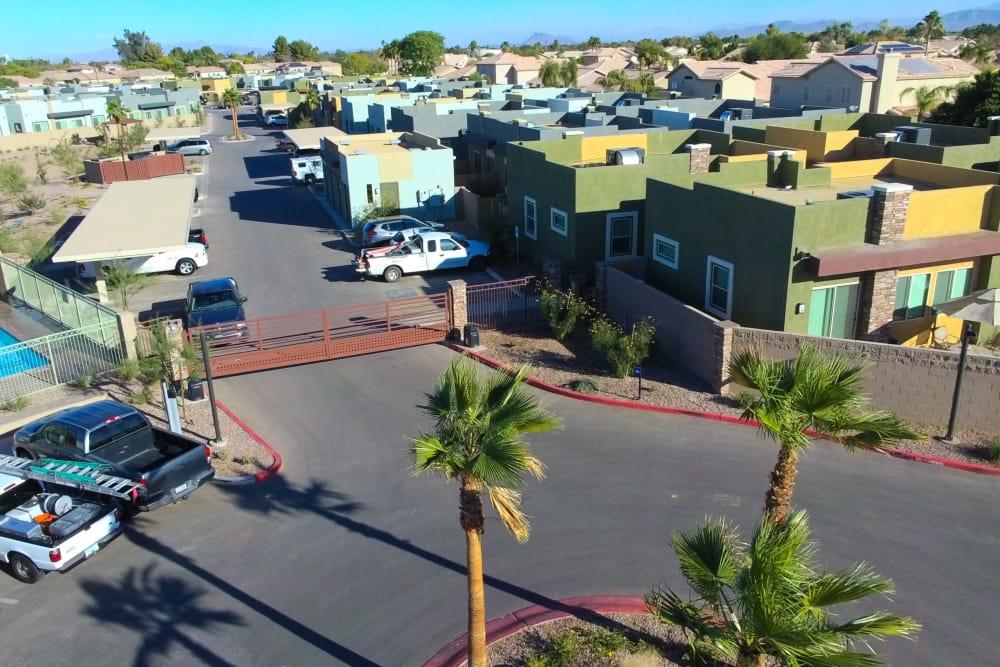 Aerial view at Avilla Town Square in Gilbert, Arizona