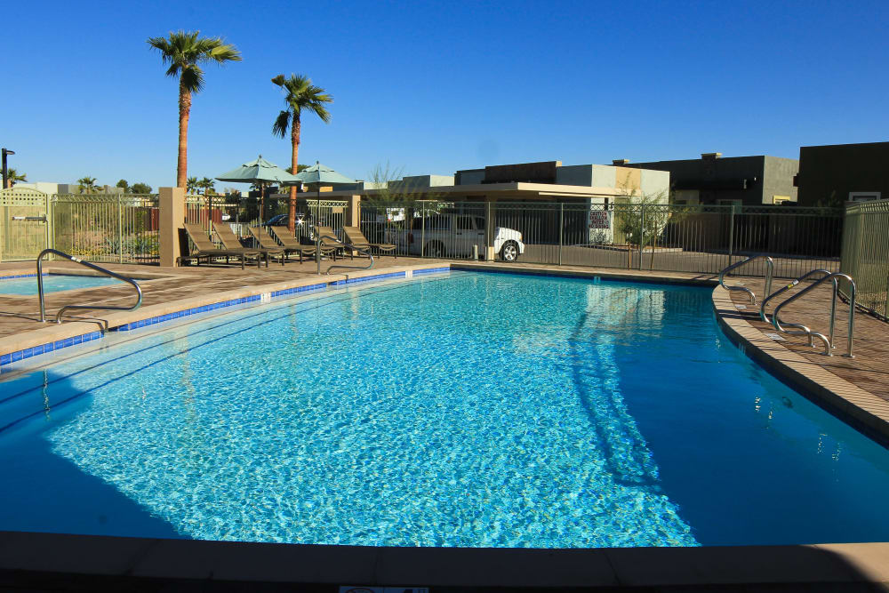 Swimming pool at Avilla Town Square in Gilbert, Arizona