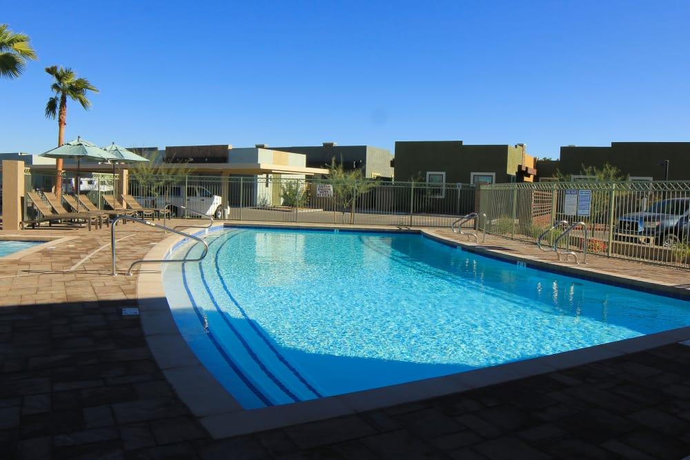 Beautiful swimming pool at Avilla Town Square in Gilbert, Arizona