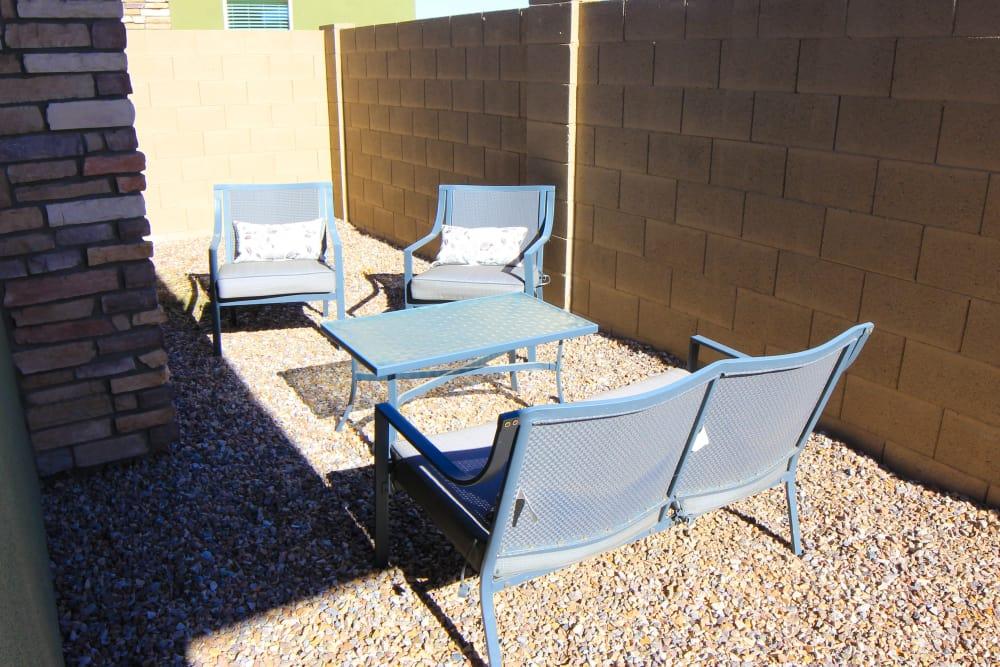Private patio at Avilla Town Square in Gilbert, Arizona
