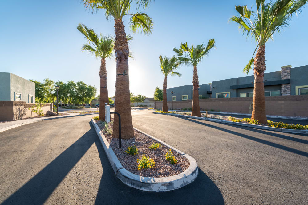 Entrance to the apartment community at Avilla Grace in Chandler, Arizona