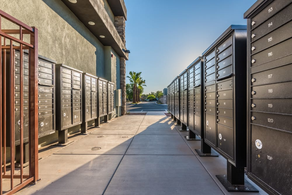 Mailboxes at Avilla Grace in Chandler, Arizona